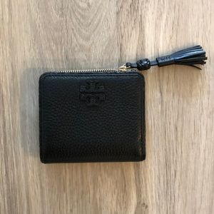 Tory Burch Black Compact Wallet